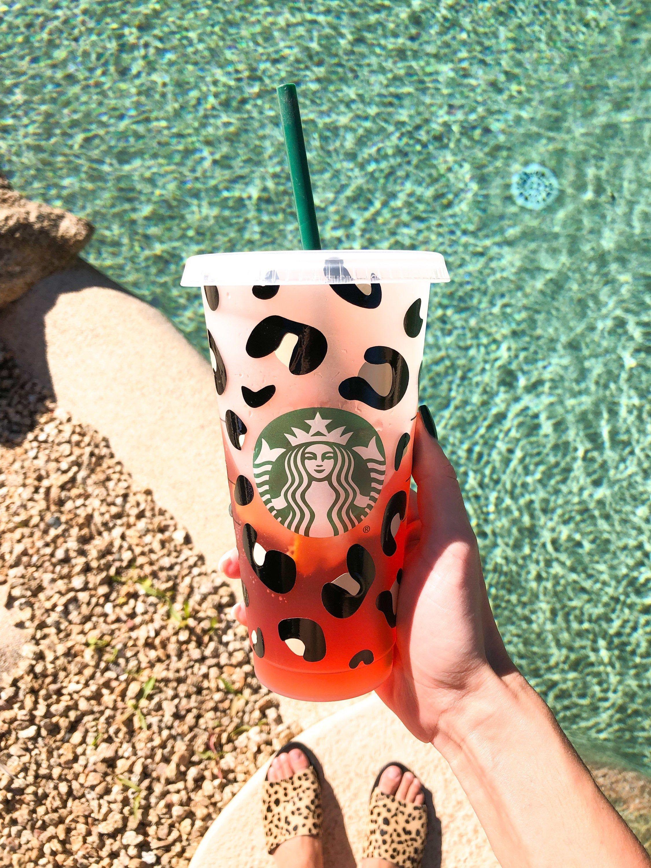 Leopard cheetah print starbucks cold cup starbucks cold