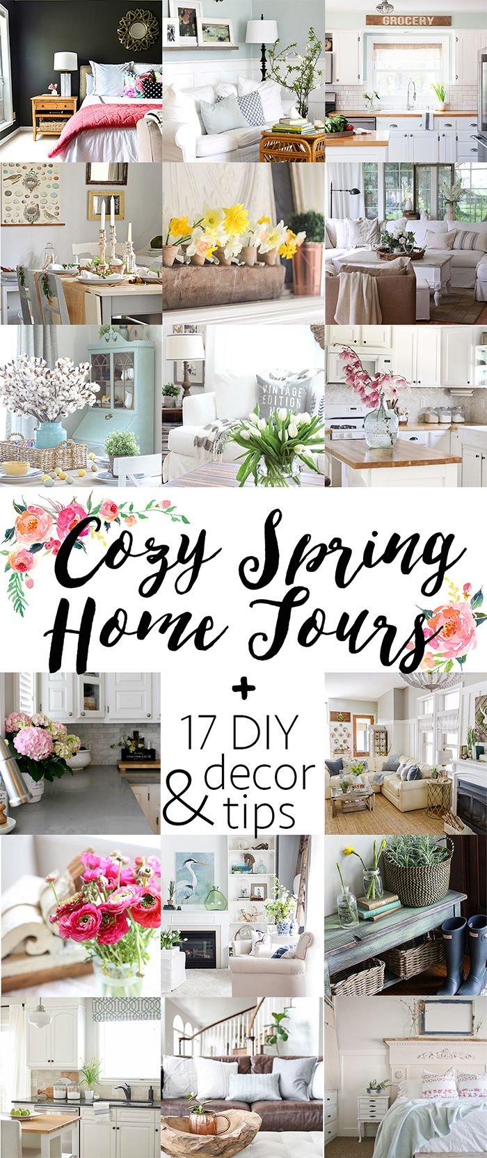 Spring Home Tour (Part 1 | Spring, Decorating and Funky junk