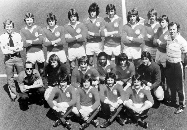 L'équipe de soccer du Canada participe aux Jeux olympiques de Montréal de 1976. (Photo PC/AOC)