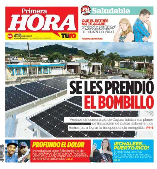 En Portada Vecinos De Caguas Instalan Placas Solares Para Noticias De Puerto Rico Sports Tennis