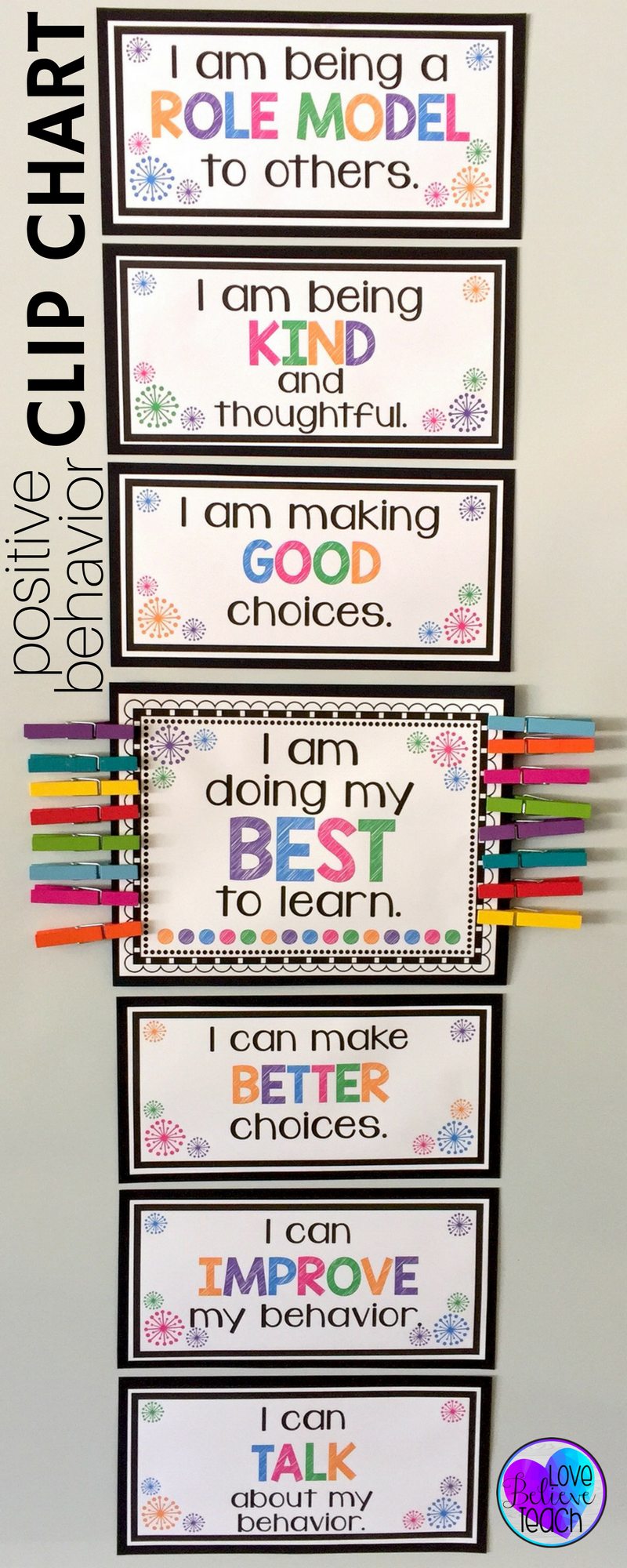 Behavior Management Is A Snap With This Chart Whole Cl And Individual Clip Charts Mixed Brag Tags Make Your Clroom Easy To