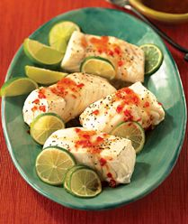 Fish is always a great source of lean protein and is good for you, too. This roasted fish with Thai dipping sauce really takes fish to the next level of tasty and healthy.