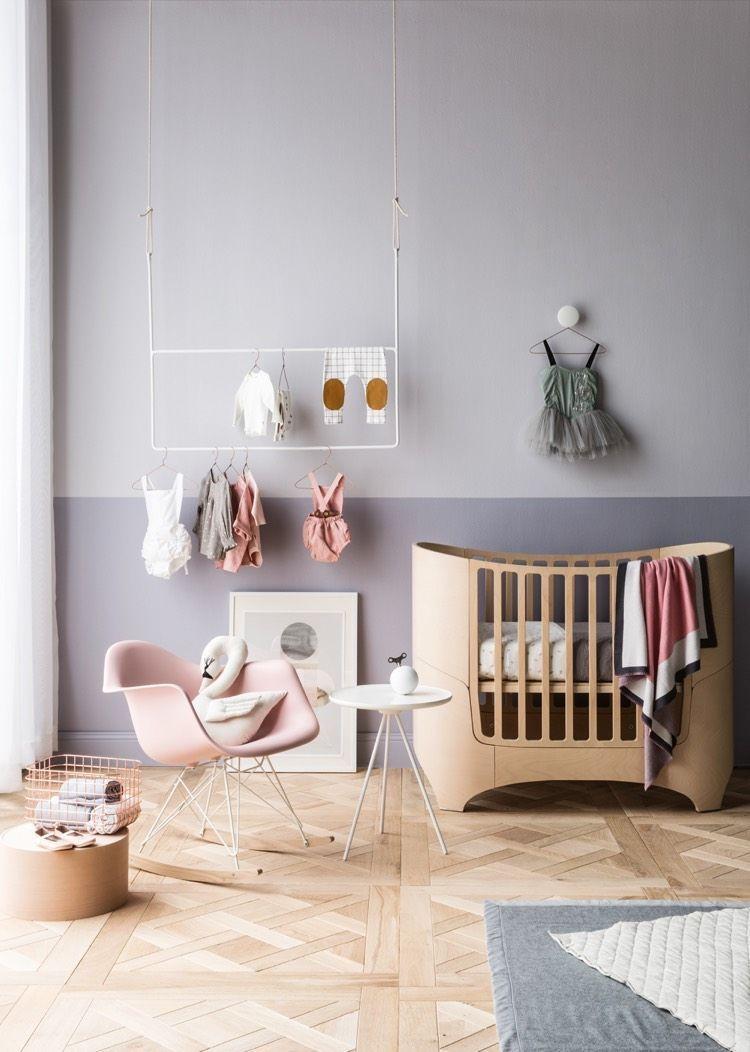 idee deco peinture interieur maison mur bicolore lilas pastel