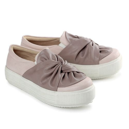 Sepatu Casual Wanita Lbt 735 Pu Pvc Abu Abu Kombinasi Sepatu