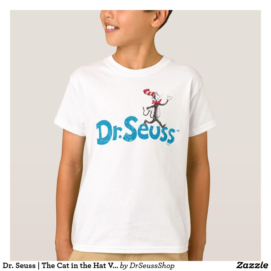 Dr. Seuss The Cat in the Hat Vintage Logo TShirt