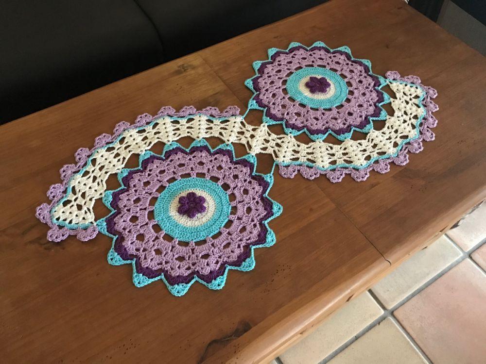 Häkeln Tischläufer Blume Mypatterns Häkeln Anleitung Decke