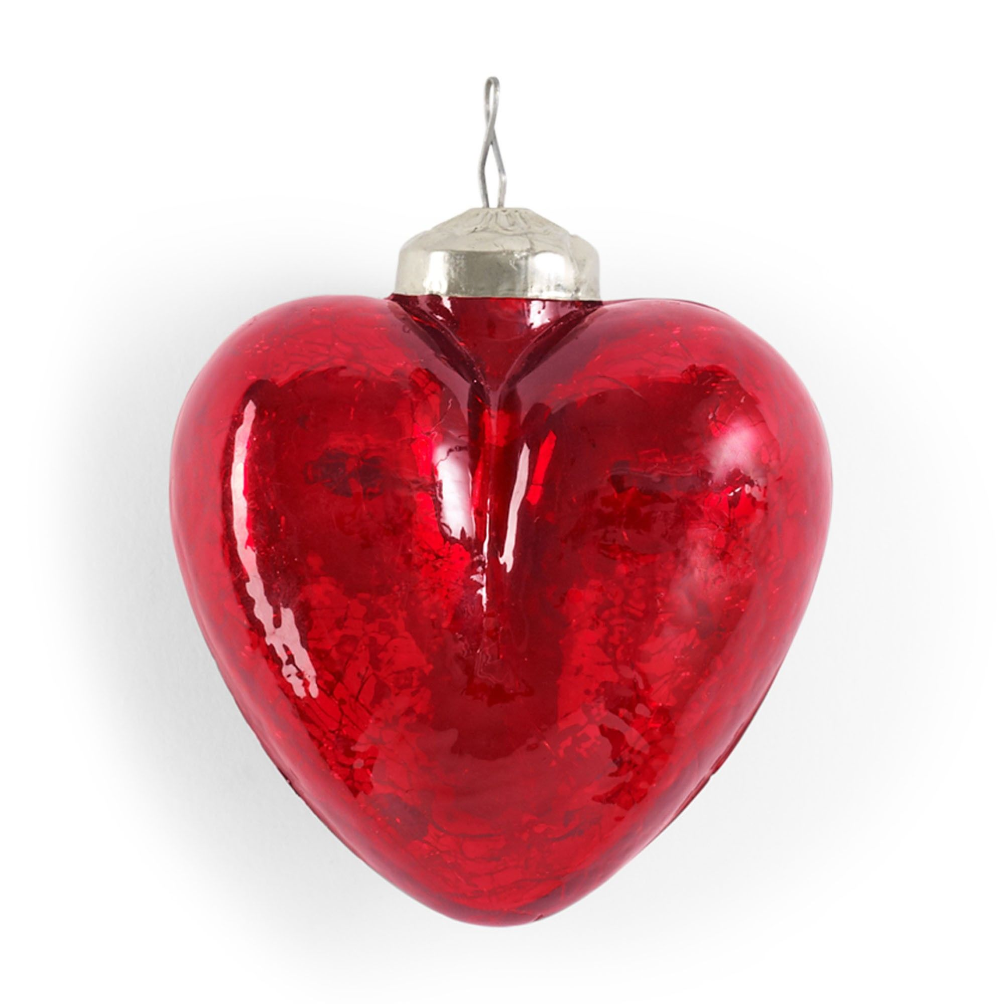 Love this Crackle Heart Ornament for $4.99 on C. Wonder