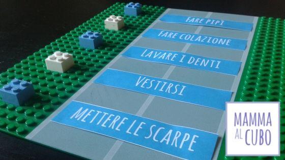 Routine del mattino con i #Lego | Mamma al cubo   #organization #backtoschool #morningroutine  http://www.mammaalcubo.org/routine-del-mattino-con-i-lego/