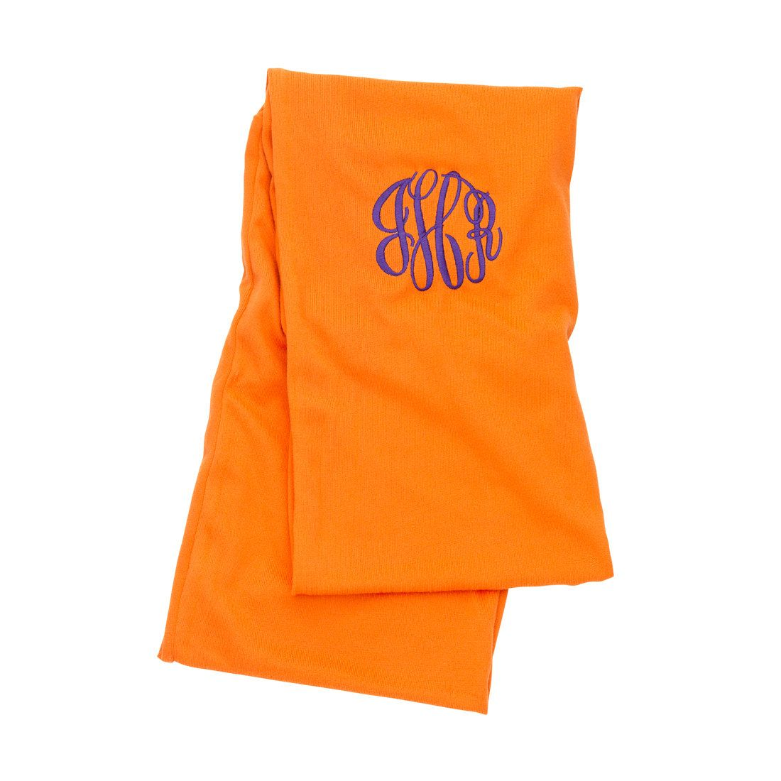 Orange Monogram Scarf - Personalized Scarf - Women's Scarf - Monogram Team Scarf - Monogram Scarf- Initials Scarf - Customized Scarf by SerenityoftheSouth on Etsy #monogram #scarf #teamColors #22.95