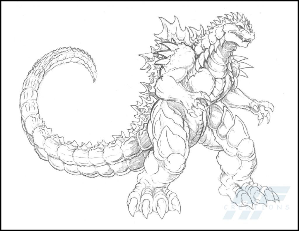 Find Inspiration About A Detailed Sketch Of Almighty Godzilla Coloring Page Customgodzilla Malbuch Monster Coloring Pages Coloring Pages People Coloring Pages