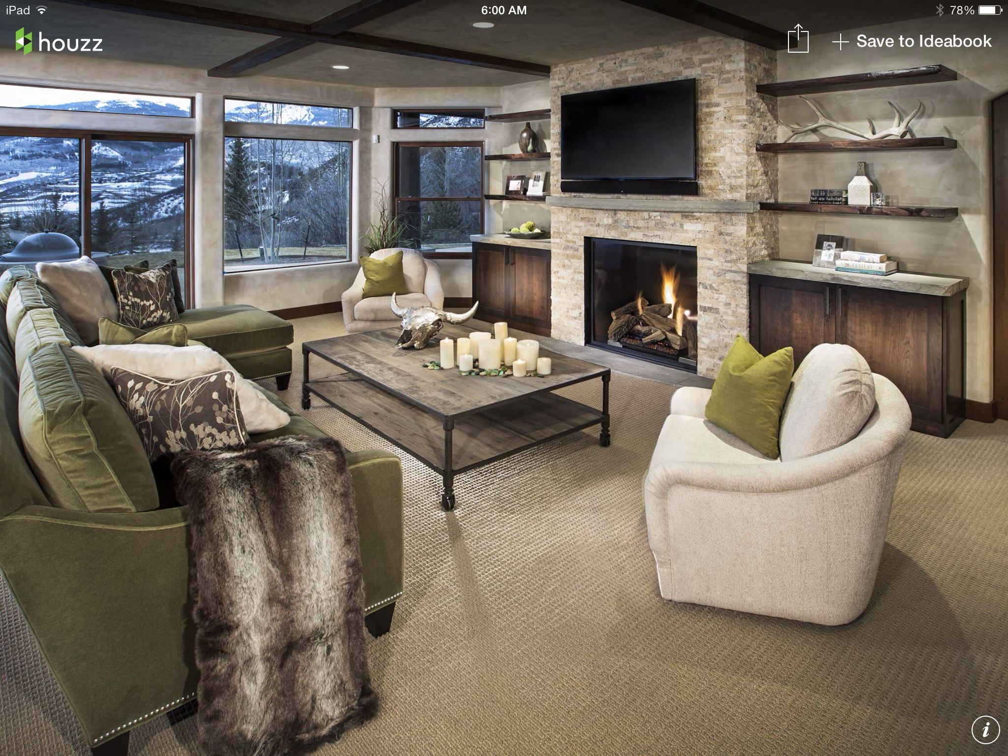Love the view | Built in around fireplace, Fireplace built ...