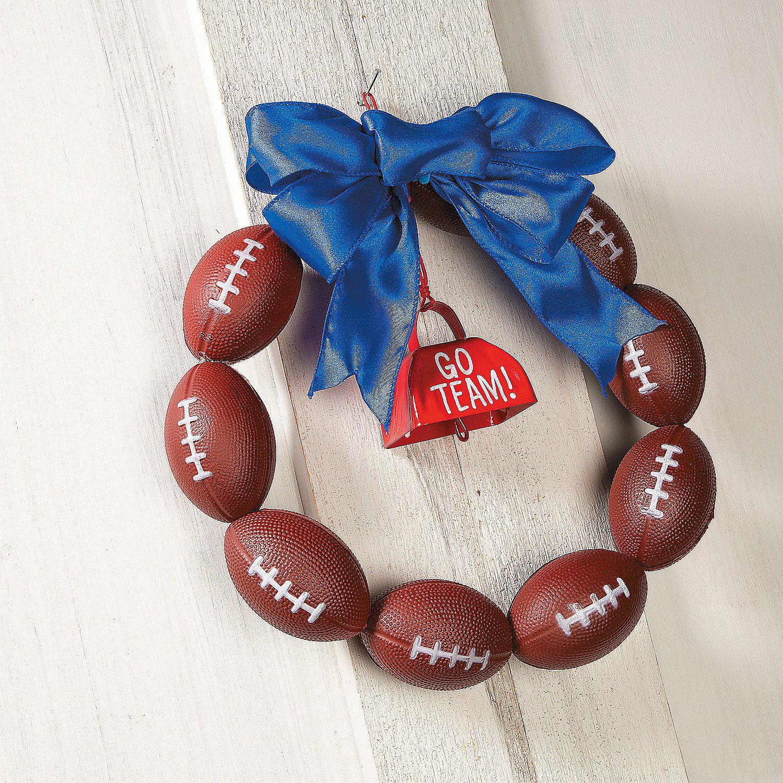 96 Fun Facts About Your Favorite Bridal Designers: Football Wreath Decor Idea