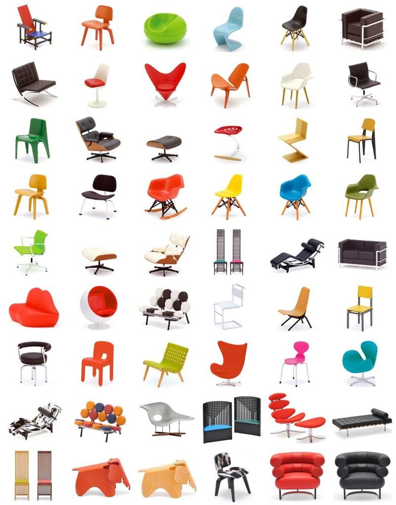 Designer chair collection - 42 perfect 1/12 replicas... cool.