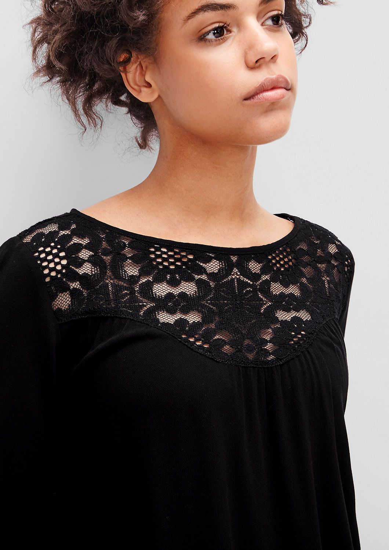romantische bluse mit spitze kaufen | s.oliver shop | bluse