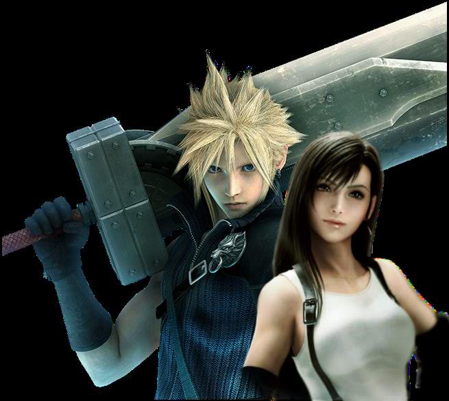Cloud And Tifa Render By Katalunaeternity Final Fantasy