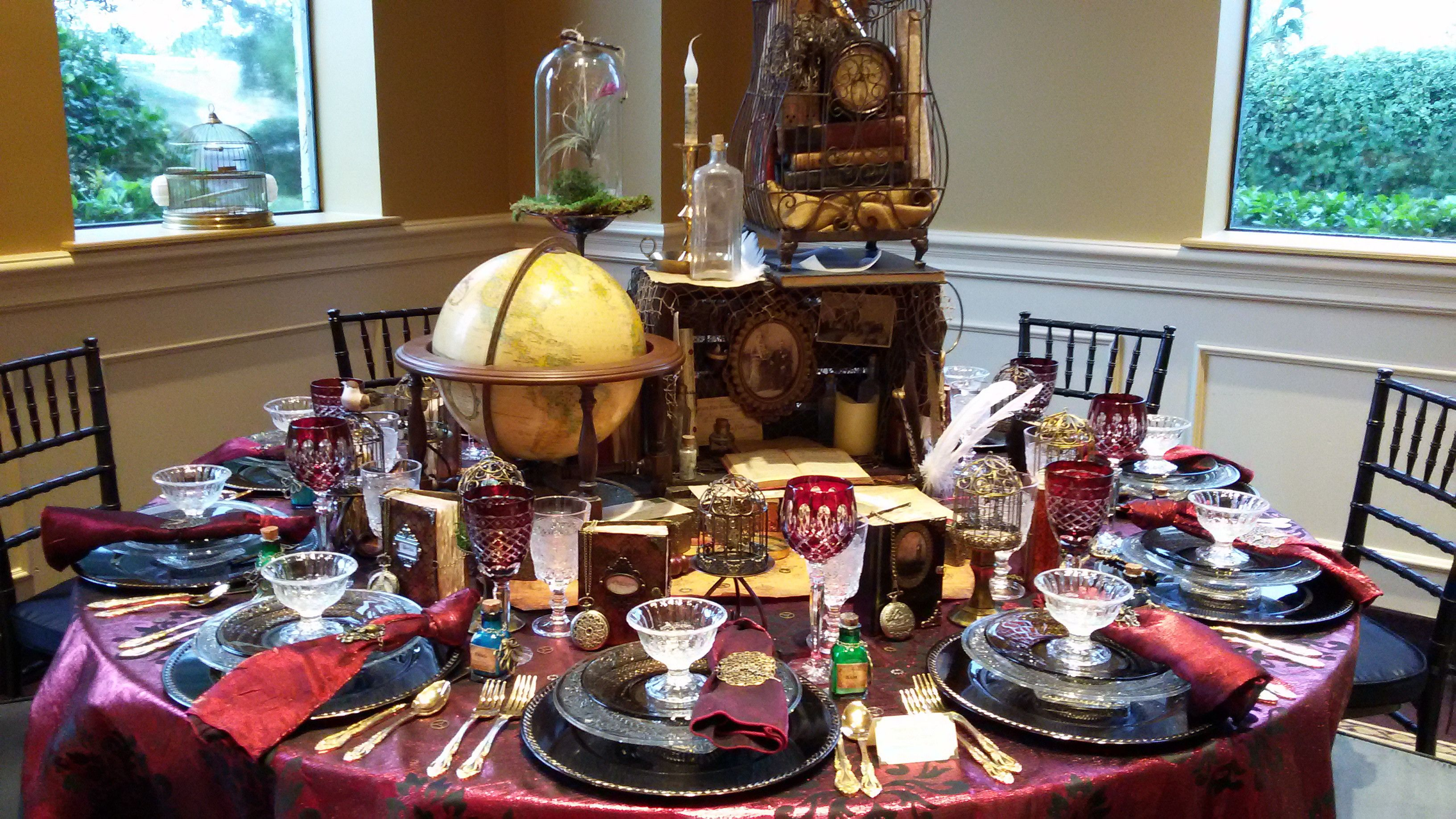 Steampunk Table Setting for Tables Extraordinaire