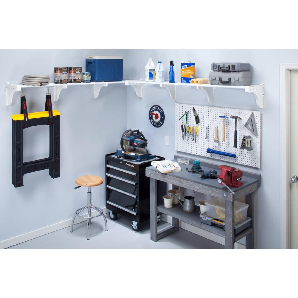 75 In. Metal 2-Expandable Garage Shelf