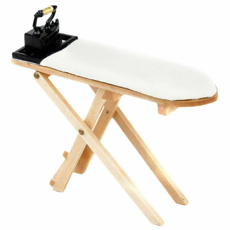 Miniature Bedroom Mini Craft Ironing Board Table /&Mini for Dollhouse  New.