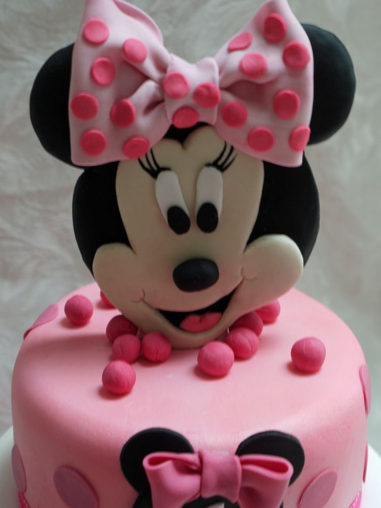 Minnie Mouse 3 Tier 1st Birthday Cake   Cakes ...