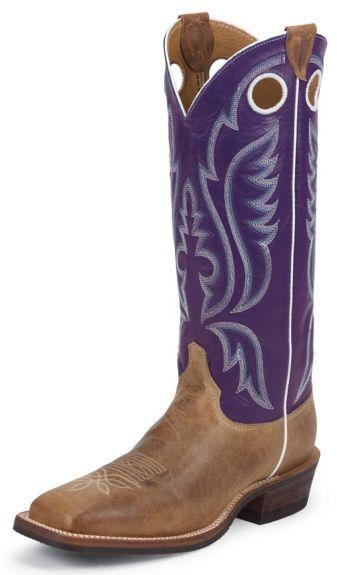 05fe17f7f4a Justin Bent Rail Buckaroo Cowboy Boots - Square Toe available at ...
