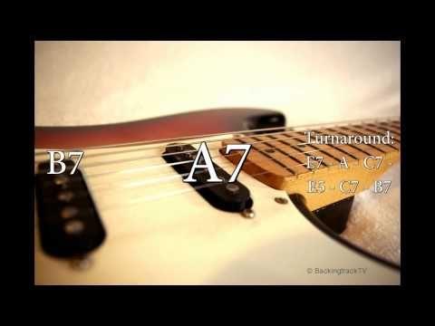 Blues Shuffle Guitar Backing Track in E - YouTube   Guitar