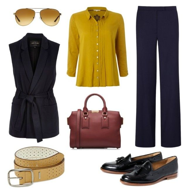 """Mustard"" by shineapple on Polyvore featuring Osman, White Stuff, River Island, Burberry, H by Hudson, Michael Kors and Relic"