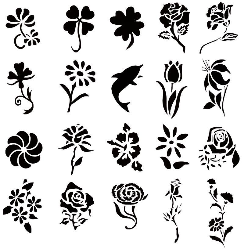 Temporary Tattoo Stencils Henna: Resultados De La Búsqueda De Imágenes: Stencil Con Flores
