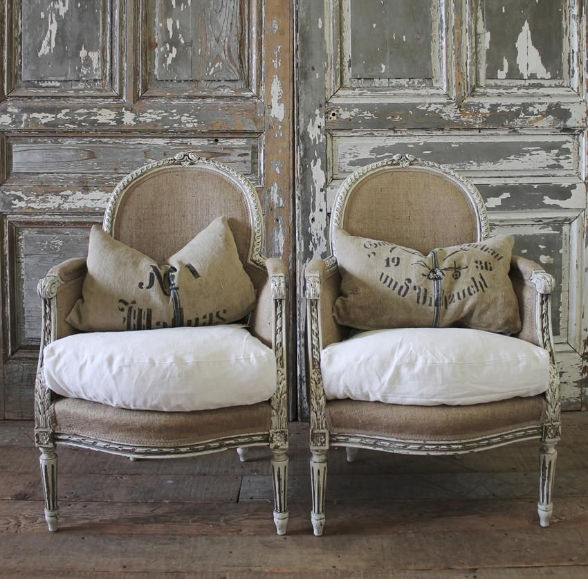 antique french bergere chairs from full bloom cottage. Black Bedroom Furniture Sets. Home Design Ideas