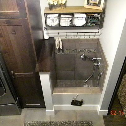 Traditional Laundry Dog Shower Design Ideas Pictures Remodel And