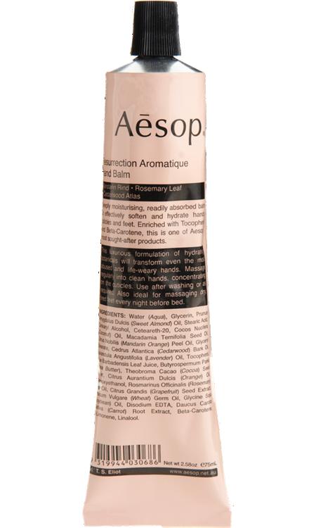 Aesop Resurrection Aromatique Hand Balm Hand Balm Hand Cream The Balm