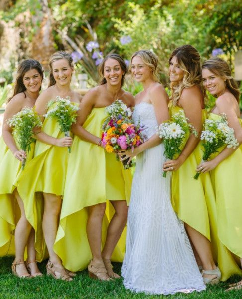Neon Dresses for Bridesmaids