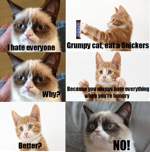 Photo of Even Snickers Can't Make the Grumpiness Go Away