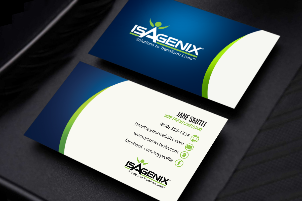 We Ve Got New Isagenix Cards Ready To Customize And Order Mlm Isagenix Print Pap Isagenix Business Cards Business Card Minimalist Printing Business Cards