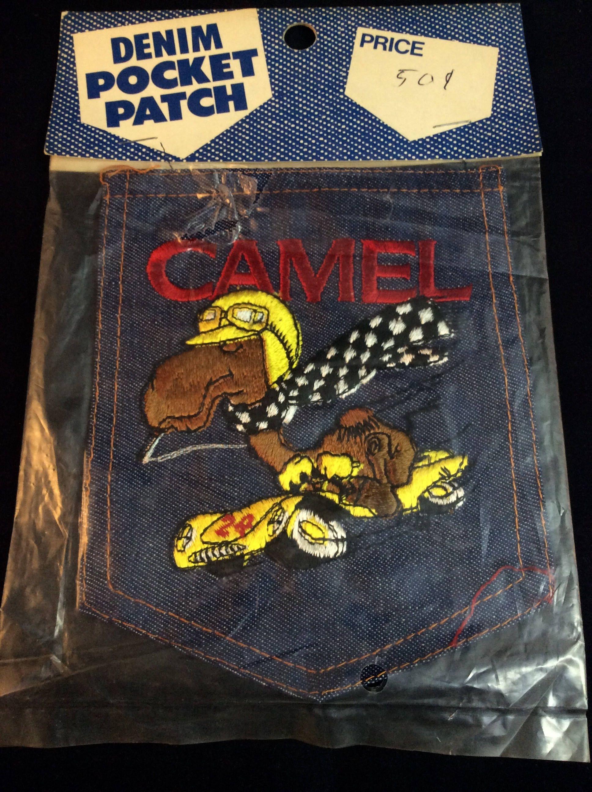 Vintage Denim Camel Cigarettes Racing Large Pocket Patch  Joe