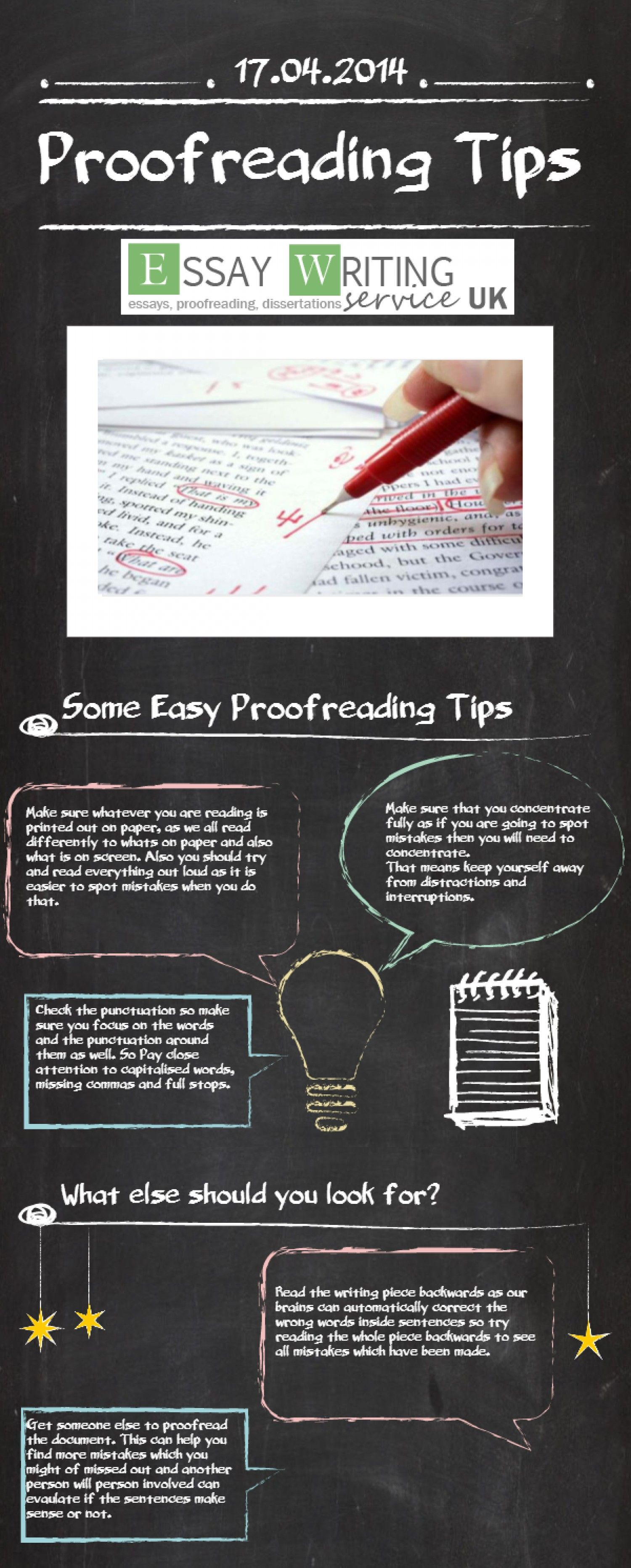 Proofreading Tips Infographic Perfect For Essay Writing
