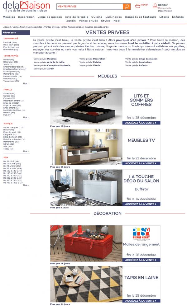 Ventes Privees Meubles Deco 10 Sites A Connaitre En 2020 Mobilier De Salon Vente Privee Deco Et Site Meuble
