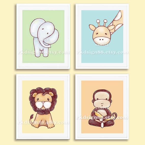 Kinderbilder fürs kinderzimmer giraffe  Baby Kunstdrucke junge Kinderzimmer Dekoration Kinderzimmer Kinder ...