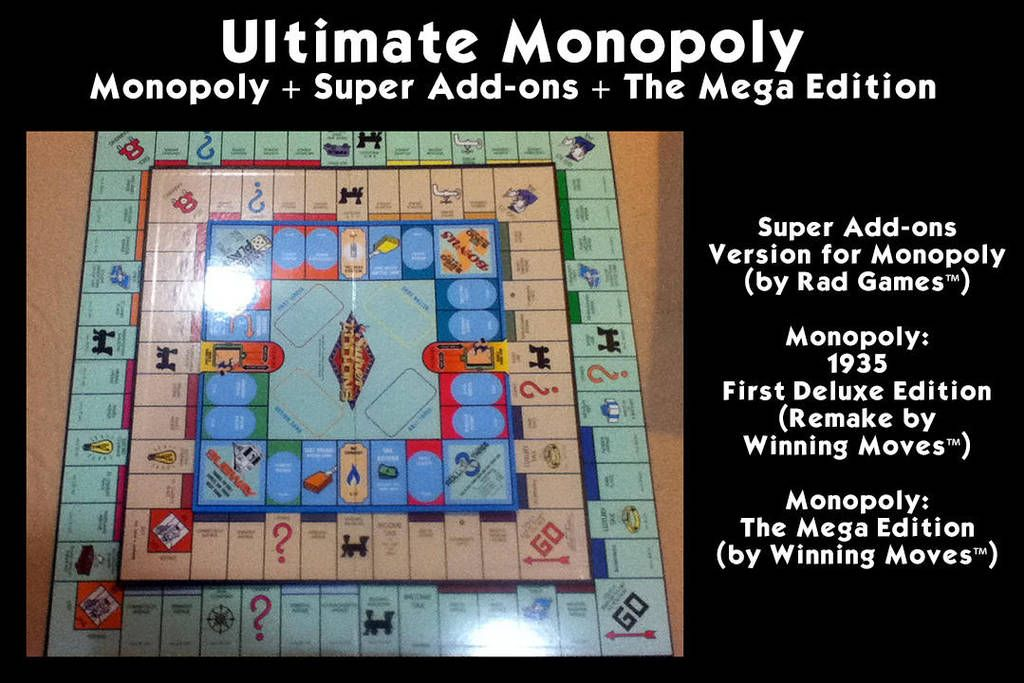 Ultimate Monopoly Setup by chadws Monopoly, Custom board