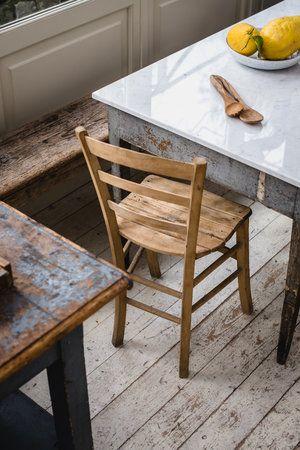 Progetto Pietre di rapolano Cucina con tavolo in marmo ...