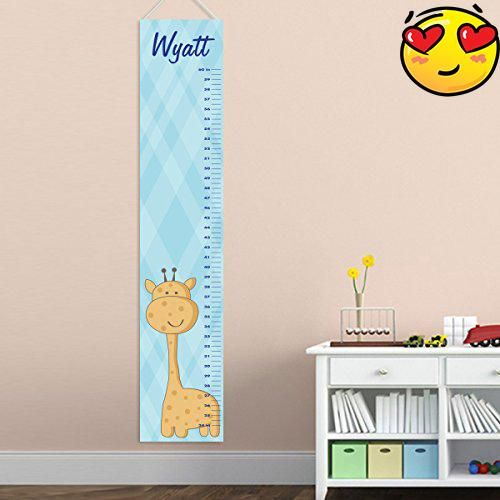 Personalized Baby Boys Giraffe Growth Chart  Personalized Height
