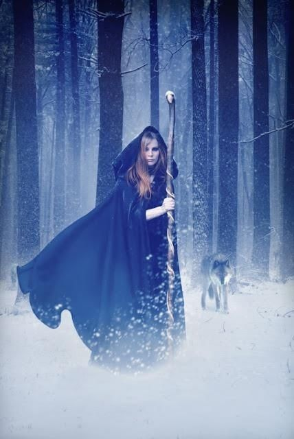 Druid in the snow with wolf | ✦✦ Fairytales