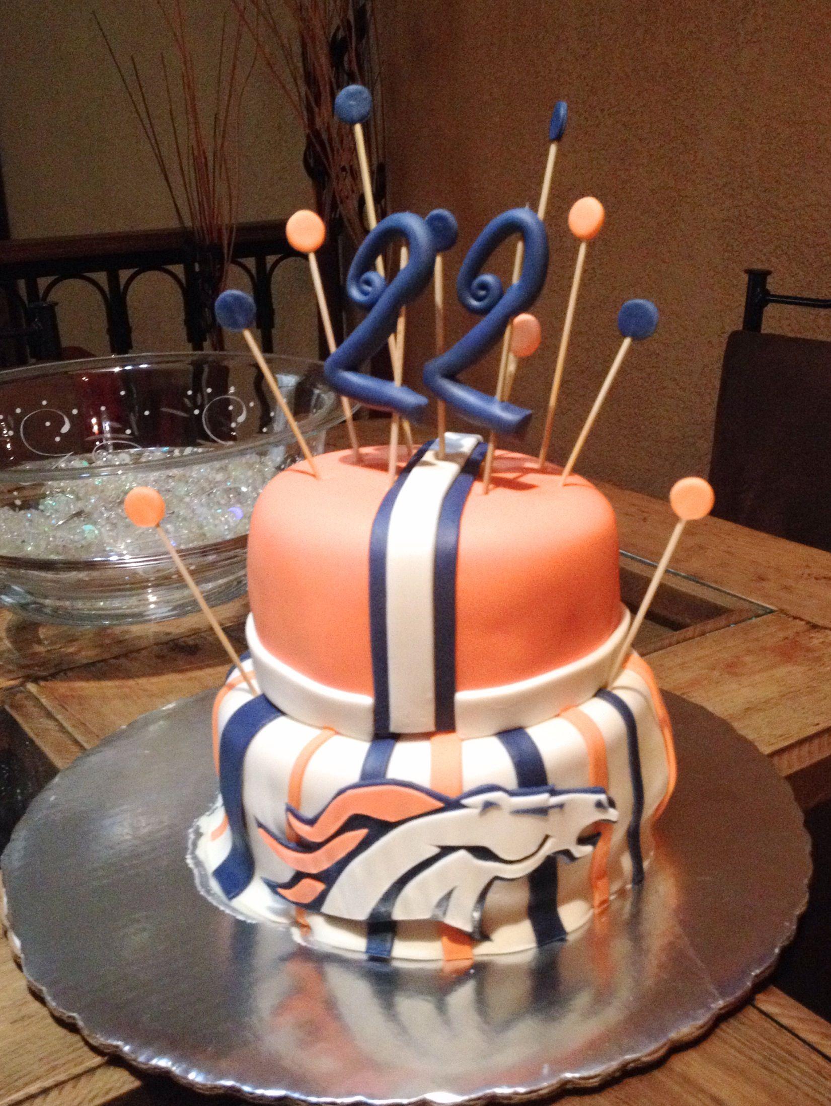 Pin by lindsay horstman on broncos cake cake broncos