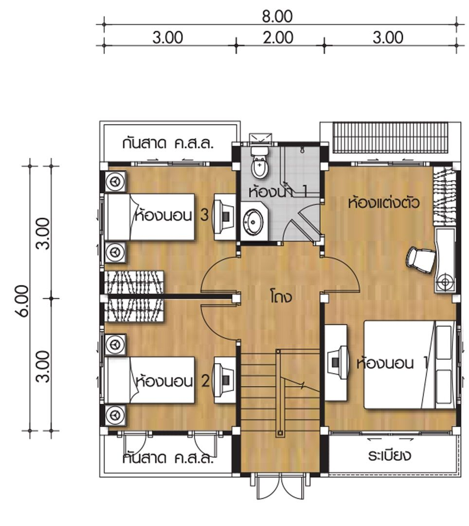 small house plans 8x6m with 4 bedrooms  small house plans