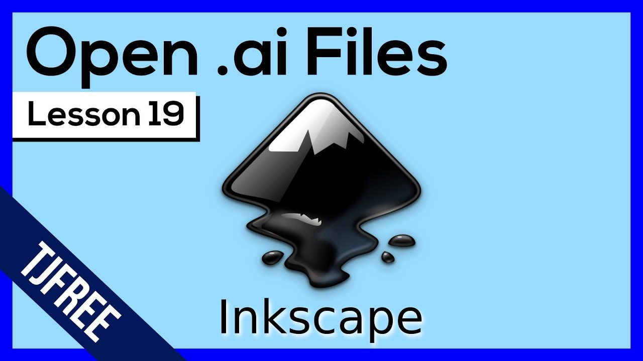 Inkscape Lesson 19 Edit Adobe Illustrator Ai Files In Inkscape Basic Drawing Free Hand Drawing Free Design Software