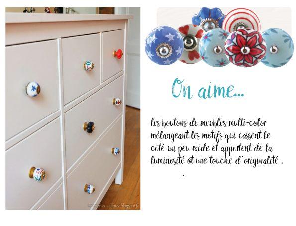 relooking meuble ikea bleu customisation meuble vintage diy meuble bouton de meuble