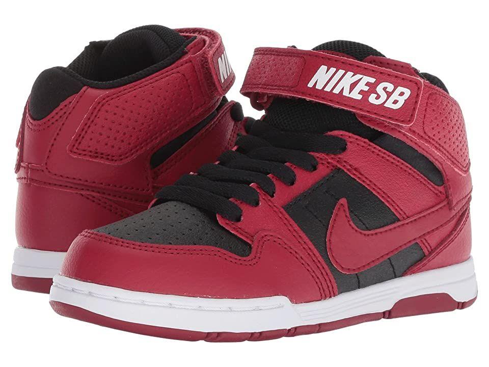 Nike SB Kids Mogan Mid 2 Jr (Little Kid/Big Kid) (Red Crush/Red ...
