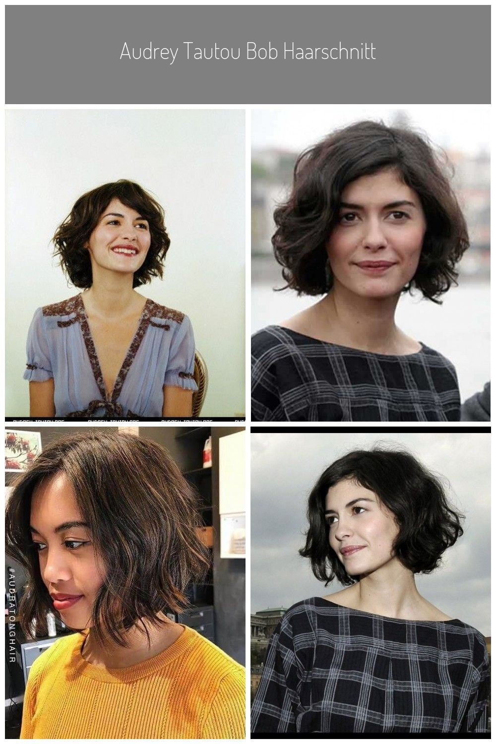 Chic French Bob Hairstyles - Food Ideas #audrey tautou haircut