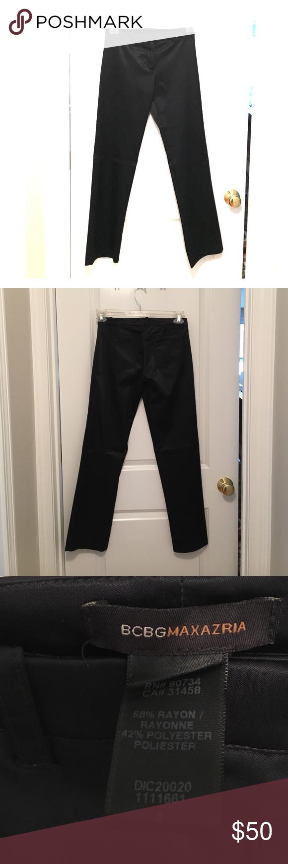 BCBG Black Shean Straight Leg Pants BCBG black Shean straight leg dress pants. Size 4. Has 2 back pockets, belt loop, no front pockets. Worn once. Perfect for a night out. BCBG Pants Straight Leg