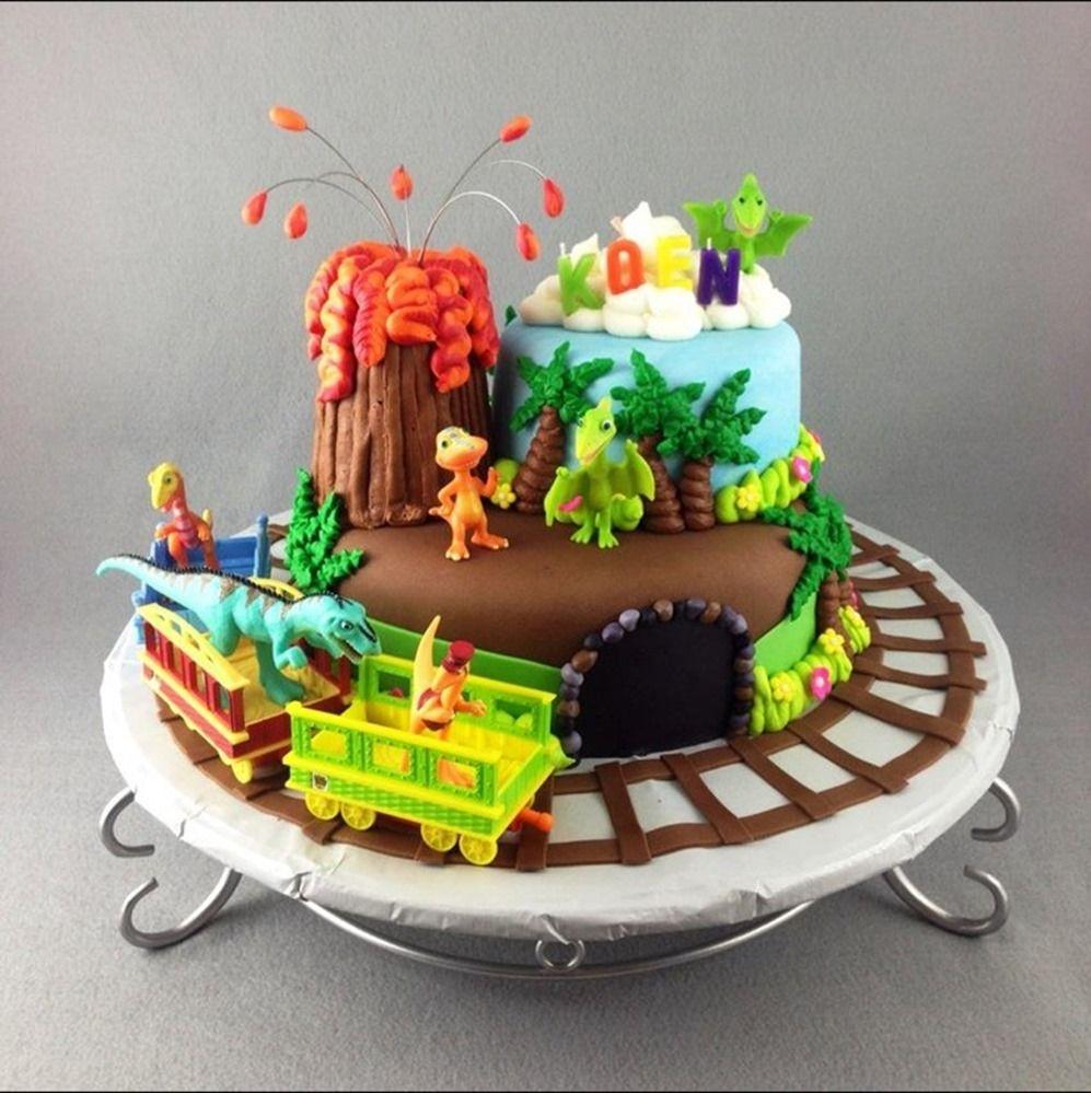 Astonishing Dinosaur Train Birthday Cake Train Birthday Cake Dinosaur Train Personalised Birthday Cards Veneteletsinfo