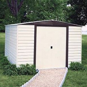 Arrow Vinyl Dallas 10x8 Storage Shed Building A Shed Shed Storage Steel Storage Sheds